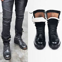 AUTHENTIC MILITARY STYLE REAL LEATHER BOOTS