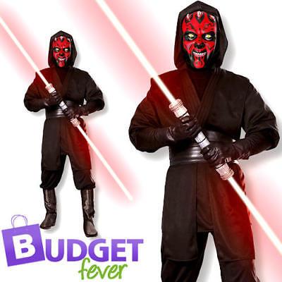 Darth Maul Adults Fancy Dress Halloween Star Wars Dark Side Villain Mens Costume