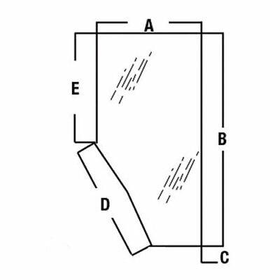 Cab Glass Door - Right Hand Kubota M8200 M5700 M9000 M105 M4900 M95 M6800