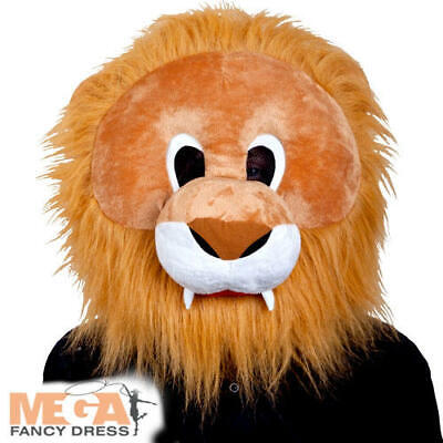 Lion Mask Adults Fancy Dress Animal Mens Womens Halloween Book Costume Accessory - Mens Lion Halloween Costume