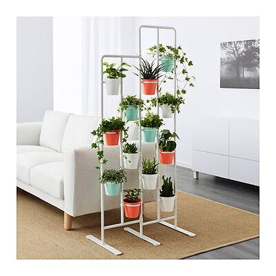 IKEA SOCKER Blumenständer, drinnen/draußen, weiß NEU DHL Versand