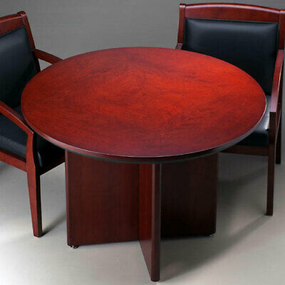 Round Conference Table Round Office Meeting Table Cherry Or Mahogany New