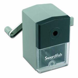 Swordfish 'Ikon' Desktop Manual Office School 8mm Pencil Sharpener - 40100