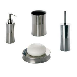 set accessori arredo bagno in acciaio inox gedy primula   ebay - Primula Arredo Bagno