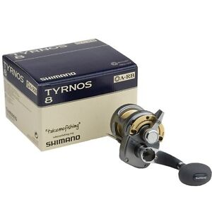 Shimano Tyrnos 8 Lever Drag Conventional Fishing Reel TYR8 - Brand New, In Box