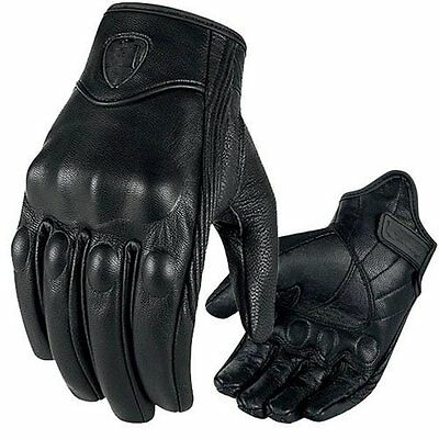 Mens Winter Leather Motorcycle Biker Full Finger Gloves Tactical Touch Screen Us