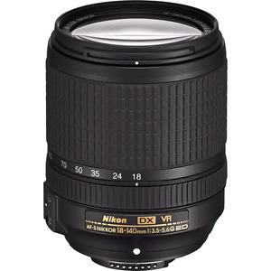 NikonAF-S DX NIKKOR 18-140mm f/3.5-5.6G ED VR Lens