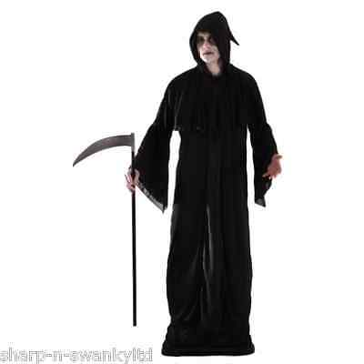 Herren Sensenmann Scream Death Ghost Halloween Kostüm Kleid Outfit STD XL