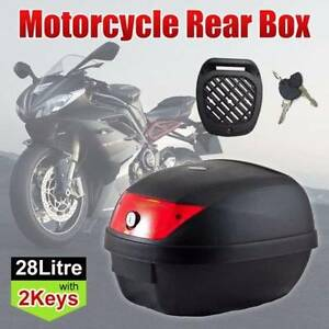Black 28L Motorcycle Scooter Topbox Rear Storage Luggage Top Tail West Melbourne Melbourne City Preview