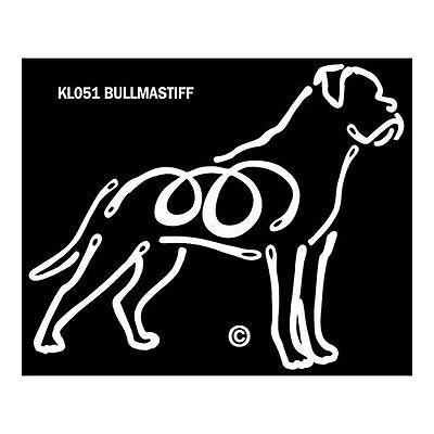 Bullmastiff Dog K-Lines Dog Car Window Tattoo Decal Sticker