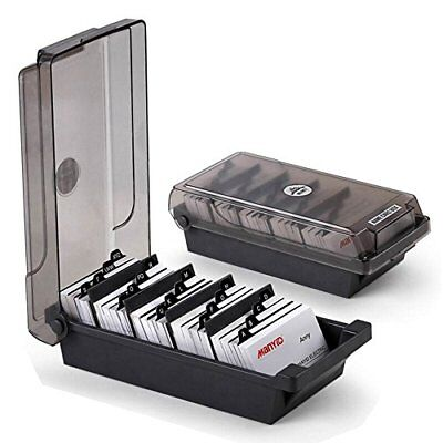 Mylifeunit Business Card Holder Name Card Organizer With Dividers Index Tab