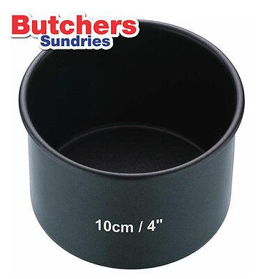 10cm / 4'' Non Stick Pork Pie Tin - Deep Cake Baking / Mould Pan