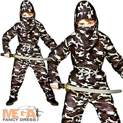 Delta Force Ninja Boys Fancy Dress Camouflage Army Military Kids Childs Costume](Camouflage Ninja Costume)