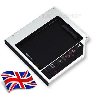 2nd Hard Drive HDD/SSD Bay Caddy SATA 9.5mm for DELL ASUS ACER TOSHIBA LENOVO