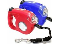 Retractable Dog Leash with 4 LED Lights - Brand New - Kilmarnock Area