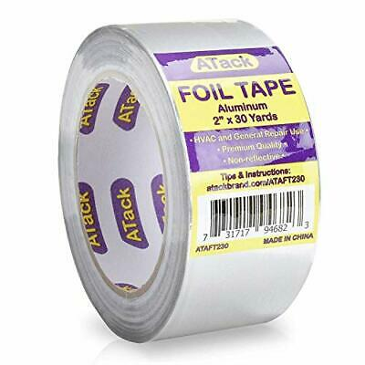 Atack Aluminum Foil Reflective Duct Tape 2 X 30 Yards High Temp And Heavy