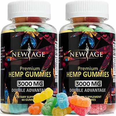 (2 Pack) New Age Naturals Advanced Big Gummies 3000mg, 100% Natural 120 Count