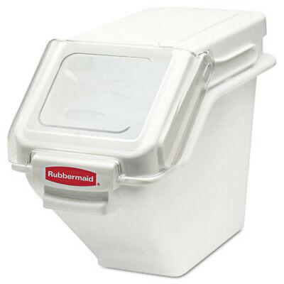 Rubbermaid 5.4 Gal. Prosave Shelf Ingredient Bin White 9g57whi New