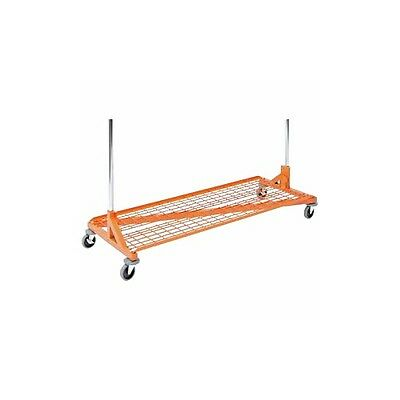 Only Hangers Bottom Shelf For Rolling Z Rack Orange Color