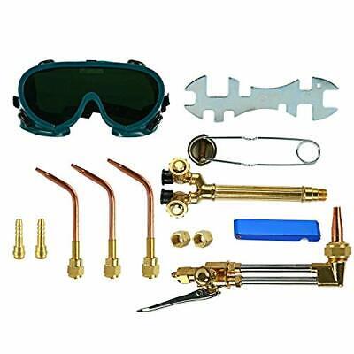 12pcs Oxygen Acetylene Welding Cutting Torch Kit Gas Welder Set With Goggles