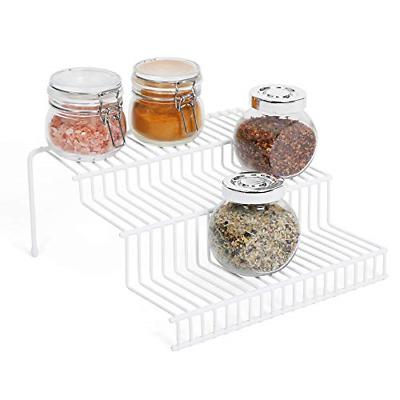 3 Tier Cabinet Cupboard Organizer Spice Rack Step Shelf Stor