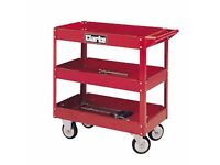 Clarke red tool trolley for sale