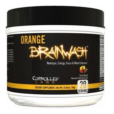 Controlled Labs Orange Brainwash Energy  Focus  Mood  Memory   Pick Flavor