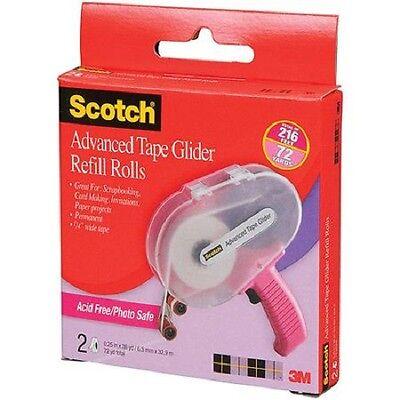 Scotch Advanced Tape Glider Refill Rolls 1/4in x 36yd 2 Pk