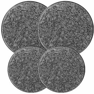Reston Lloyd Electric Stove Burner Covers, Set of 4, Black Granite New