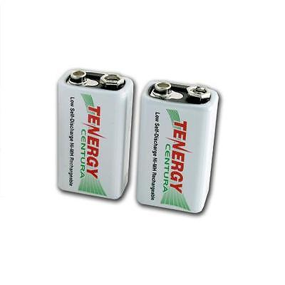 Discharge Nimh Battery - 2 x Tenergy Centura 9v Low-Self-Discharge NiMH Rechargeable Batteries