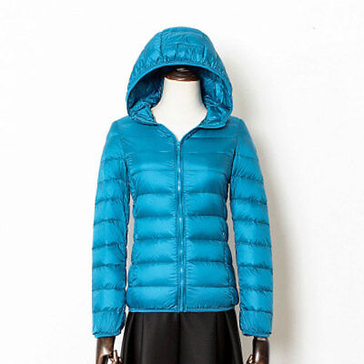 Women Ultralight Jackets Feather Down Hooded/collar Warm outwear S-3XL best