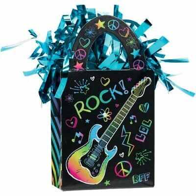 - Neon Doodle Rainbow Rock Star Birthday Party Decoration Gift Bag Balloon Weight