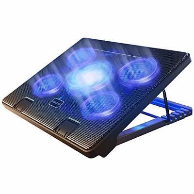 "Kootek Laptop Cooling Pad 12""-17"" Cooler Pad Chill Mat 5 Quiet Fans LED Lights"