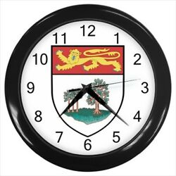 Prince Edward Island Coat of Arms Wall Clock - Tabard Surcoat