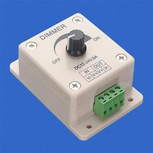 DC-12V-8A-LED-Light-Dimmer-Brightness-Adjustable-Bright-Controller-Single-Color