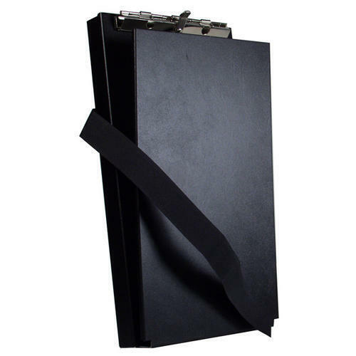 """Saunders 12206 Black Recycled 6x11"""" Aluminum Antimicrobial Citation Holder II"""