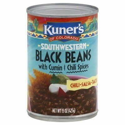 Kuner's of Colorado Black Beans with Cumin and Chili Spices (Pack of -