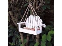 White Bench Shaped Hanging Garden Bird Feeder Delivery Available £8
