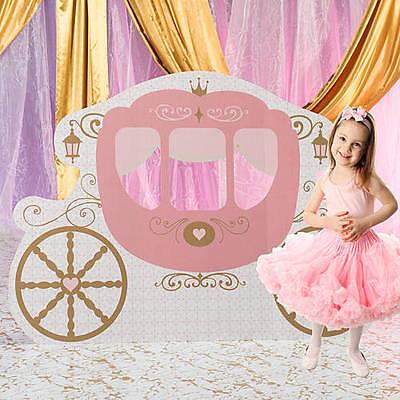 Princess Carriage Standee Girl Birthday  Pink Provincial Theme - Princess Birthday Themes