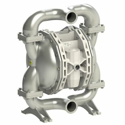 Double Diaphragm Pump By Fluimac -pf400 -food Grade-316 Ss Body-2 Clamp-100 Gpm