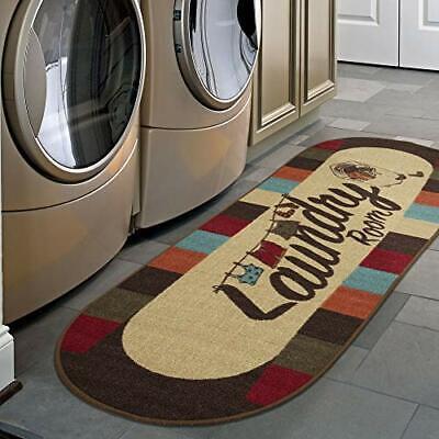 """20"""" x 59"""" Laundry Room Runner Rug Mat Non Slip Oval Stain Re"""