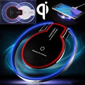 ** Clear Qi Wireless Fast Charger Charging Pad **