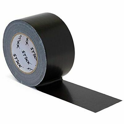 3 X 60 Yd 7.5 Mil Thick Black Duct Tape Pe Coated Weather Resistant 2.83 In 72