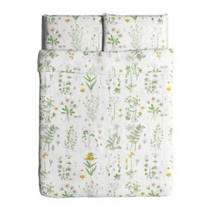 IKEA Strandkrypa King size Duvet Cover with Pillow Shams