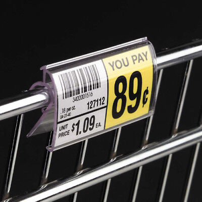Clear Plastic Snap-on Covered Face Label Holder For Wire Shelves