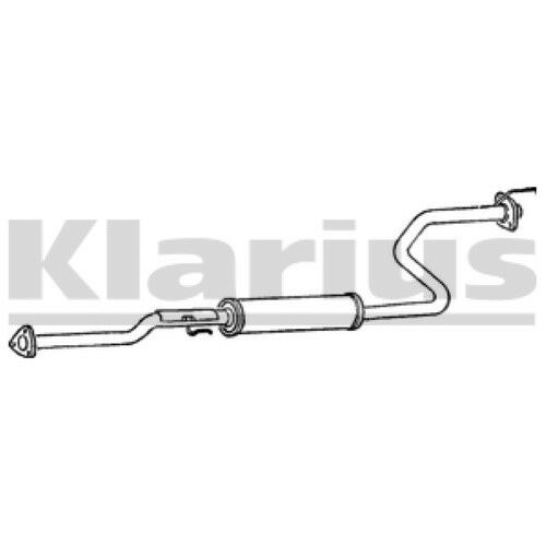 1x KLARIUS OE Quality Replacement Middle Silencer Exhaust For HONDA Petrol