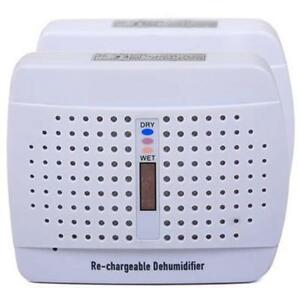 RECHARGEABLE MOISTURE ABSORBING DEHUMIDIFIER TWIN PACK