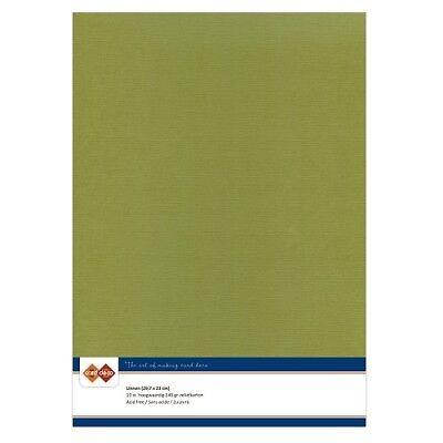 (EUR 4,81/m²) Leinenkarton 10xA4-Bogen olivgrün 46