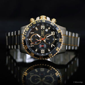 Invicta Men's Chronograph Watch 14876 Stainless and 18k gold