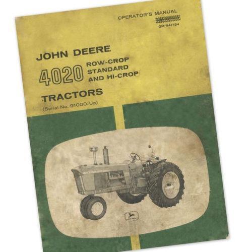 John Deere 4020 Owners Manual